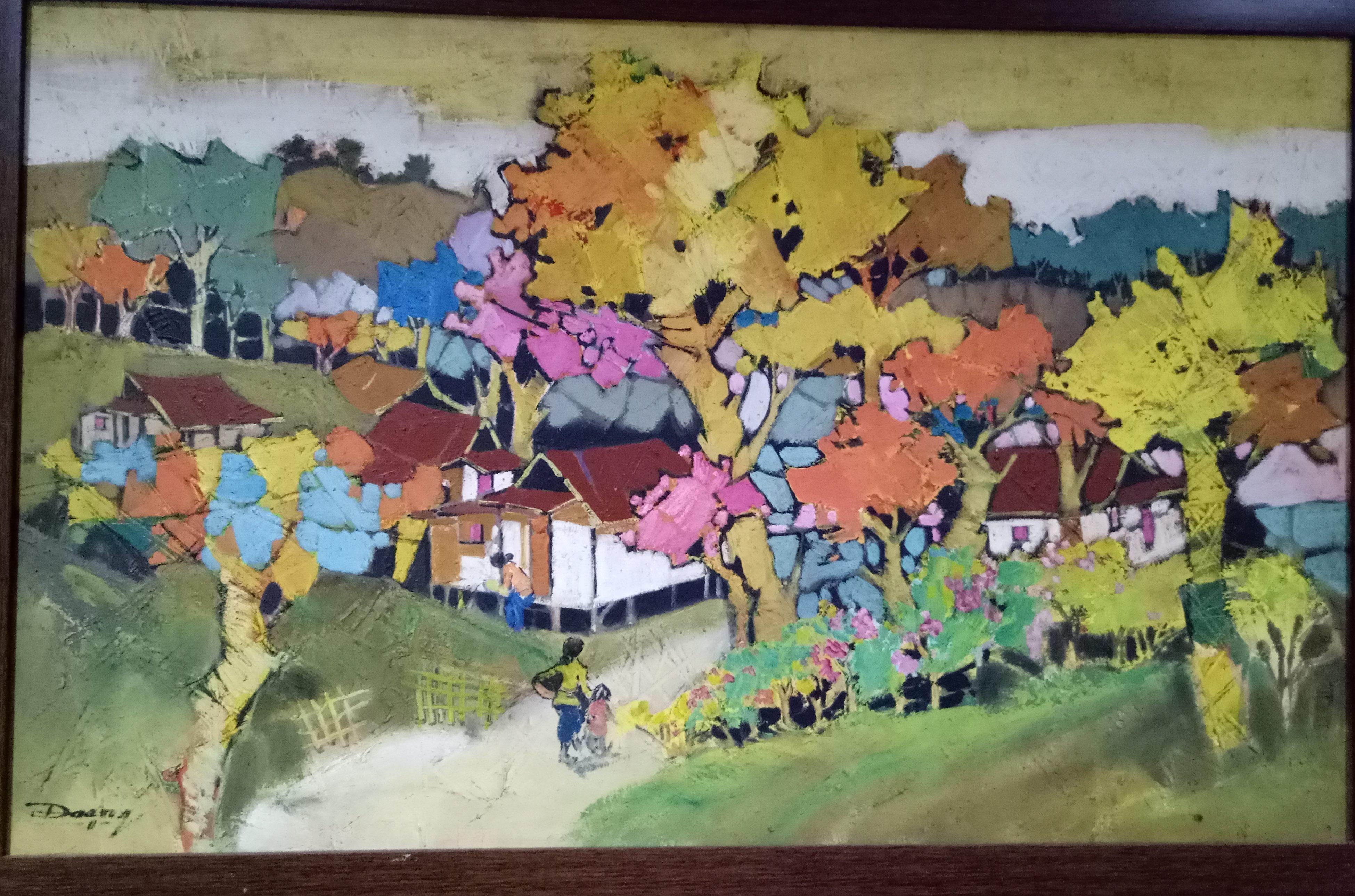 Suasana Pedesaan, Artist : Daeng, acrylic  on canvas