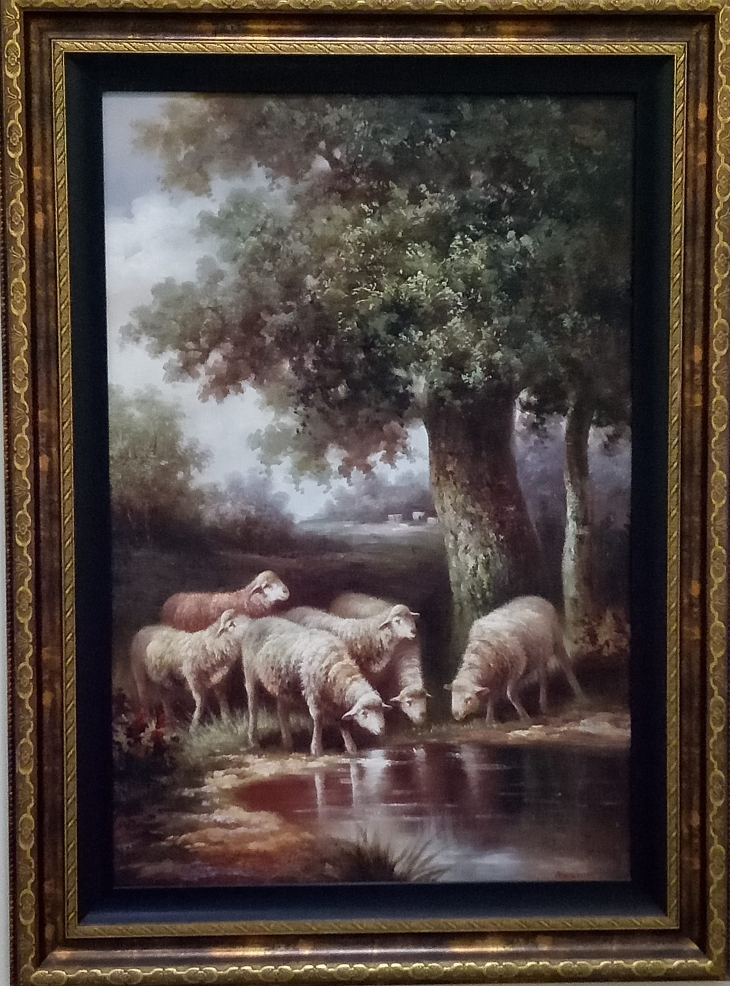 The Lambs , Artist: Manson (a Chinese artist), oil on canvas.