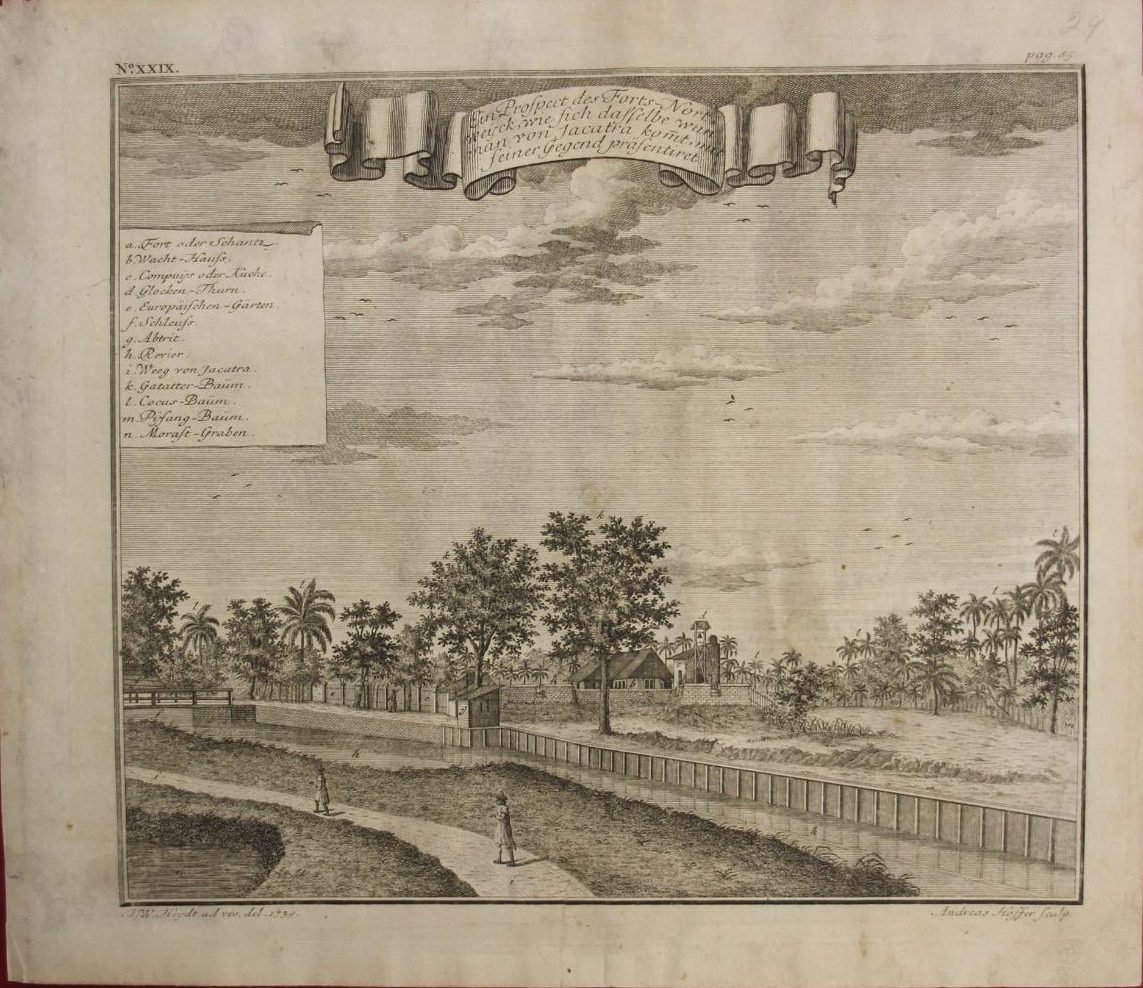 Jakarta Dutch Fortress (Year : 1739) by Johann Wolfgang Heydt