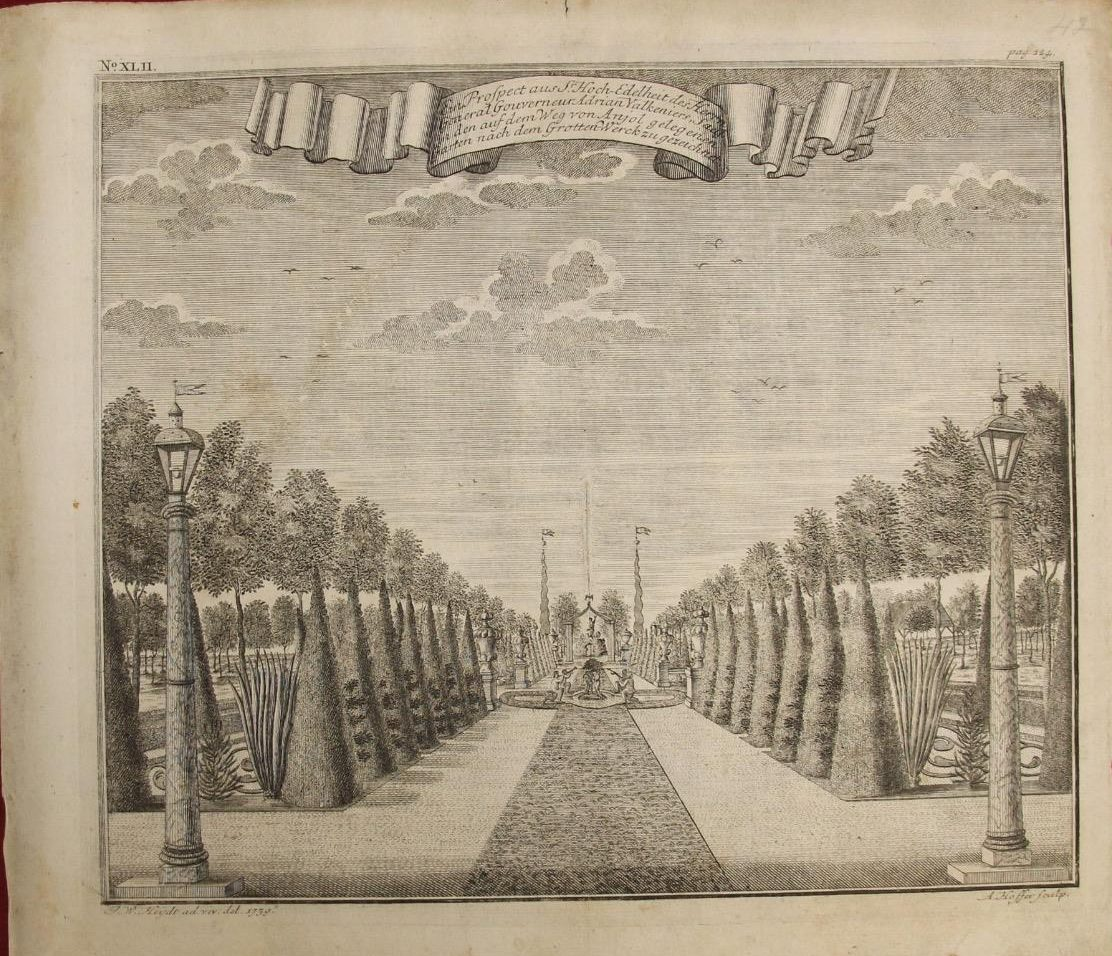 Jakarta Governor General Palace Gardens (Year : 1739) by Johann Wolfgang Heydt