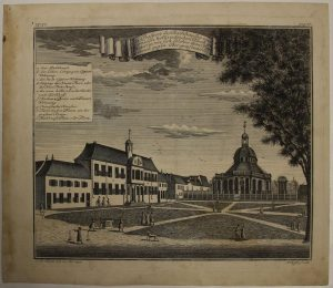 Jakarta Town Hall View (Year : 1738) by Johann Wolfgang Heydt