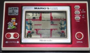 Mario's cement factory (1983, LCD, 2 LR/SR44 Batteries, Model# ML-102)