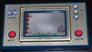 Fire (1981, LCD, 2 LR/SR44 Batteries, Model#FR-27)