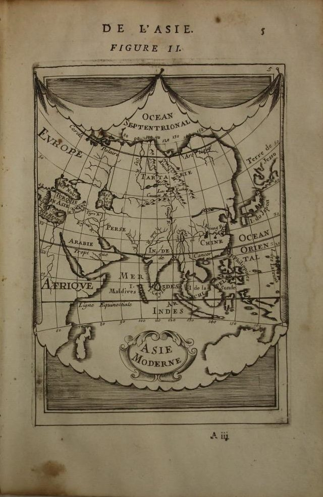 Asian Continent Map (Year: 1682) by Alain Manesson Mallet - Original Copper Engraved Map