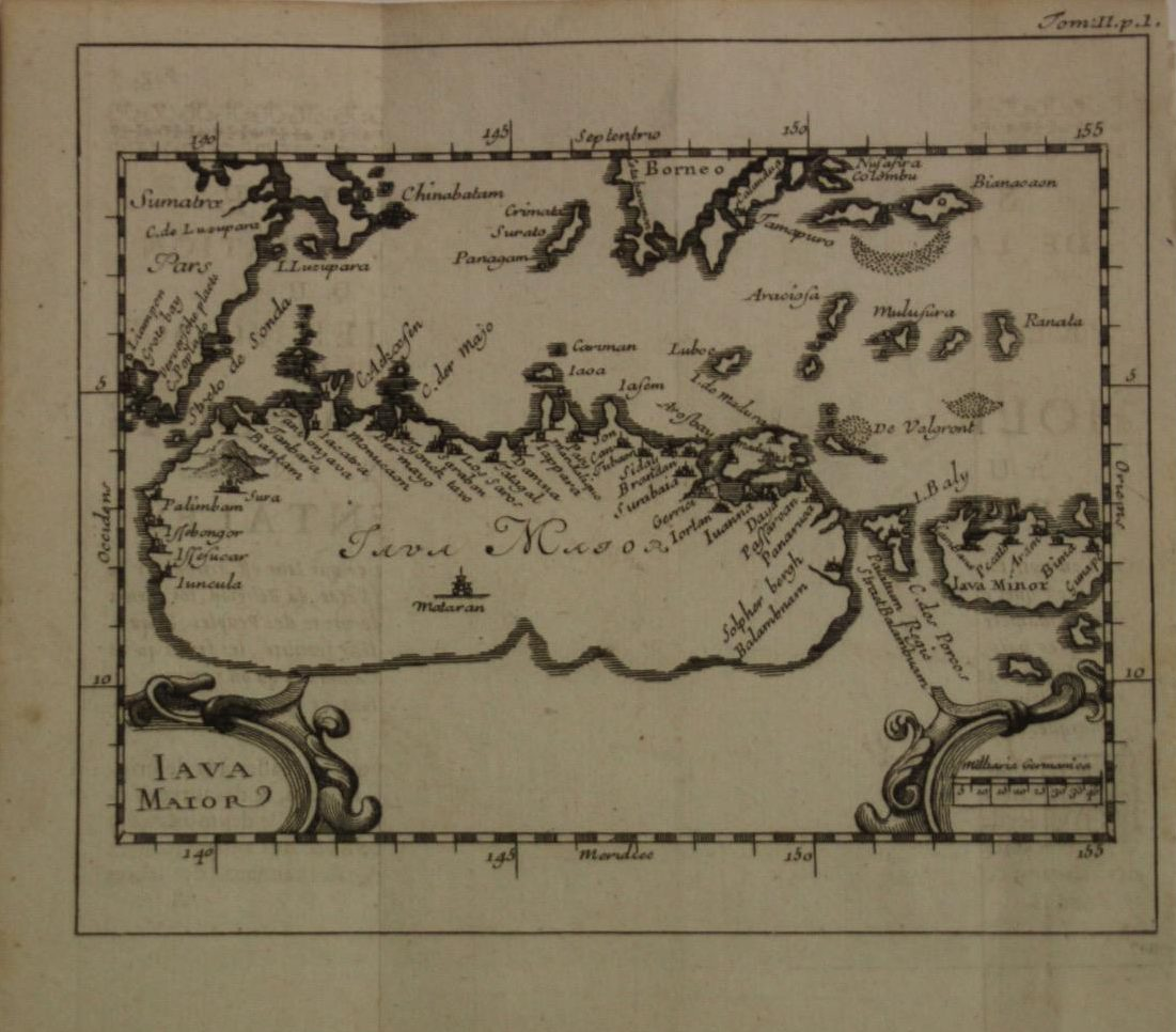 Java Island Map (Year: 1725) - Indonesia by Renneville - Original Copper Engraved Map