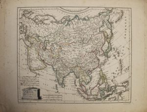 Asian Continent 1809 by Jean-Baptise Poirson - Original Copper Engraved Map